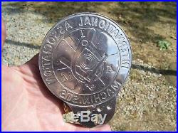 Original nos 1950s Accessory vintage License plate topper scta GM Ford Chevy