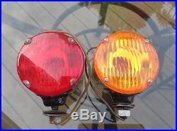 Original pair Signal-STAT 18 turn lamp tail LIGHT vintage TRUCK acrystat lens