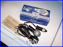 Original vintage 1940s nos in box Reelite Auto service light lamp tool Hot rod