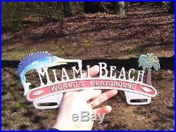 Original vintage Automobile Florida vacation promo topper gm auto part bomba