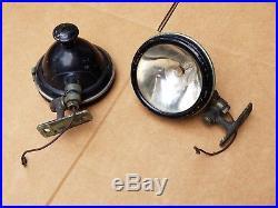 PAIR of VINTAGE S&M Lamp Co. No. 70 LA, CA SPOT LIGHT With MOUNT BRACKET ANTIQUE
