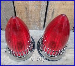 Pair 1959 Cadillac Taillights Flush Mount Vtg Hot Rod Rat Custom Lowrider Vw Van