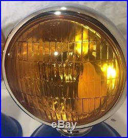 Pair Bullet Style Amber Lens 5 12 Volt Fog Lights Lamps Car Truck Hot Rod
