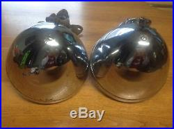 Pair GUIDE driving Lamps early RARE Fog lights VINTAGE auto mount BRACKET solid