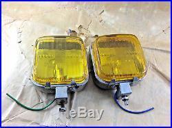 RARE VINTAGE Fog Light Lamp Yellow NOS
