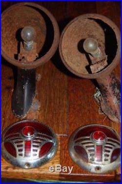 RARE Vintage 1936 1937 Chrysler DeSoto RILITE Tail Lights Lamps SCTA Hot Rod Rat