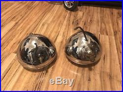 RARE Vintage Auto Lamp Headlights Head Lights Art Deco Hot Rod Rat SCTA Flathead