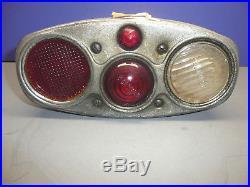 Rare Vintage 1920's BROWN USA LITE Brake Backup Tail Light Lamp