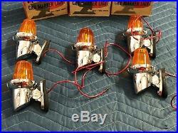 Set 5 INTERNATIONAL IH Cab Clearance MARKER LAMP Vintage Truck LIGHT Amber NOS