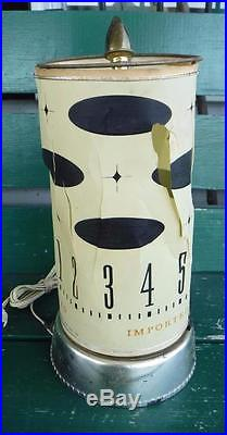 Spartus Vintage Motion Lamp Clock MID Century Art Deco Parts Or Repair Rare