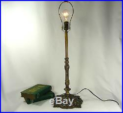 Table Lamp Single Brass and Mix Metal Vintage Parts Custom Made
