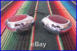 VINTAGE Antique Fog Lights Lamps CATS EYE SHAPE B-L-C MODEL B-J8 ACCESSORY BLC