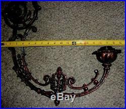 VINTAGE SET OF 4 CAST Aluminum Chandelier ARMS Or Lamp Parts 18 T x 19 WIDE