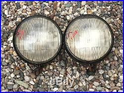 VinTaGE PaiR GUIDE TILTRAY HEADLAMPS HEADLIGHTS Lights Lamps OLD Car Buick Olds
