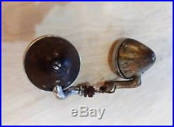 Vintage 1930's 1920's Ford Chevy Cowl Lamps Lights withGlass Lens Hot Rod Rat