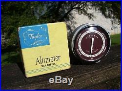 Vintage 1950s nos original Taylor auto Altimeter barometer gauge dash part gm