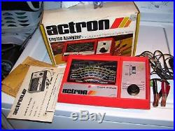 Vintage 1970's Auto Engine tune tester meter car service auto gm street rat rod