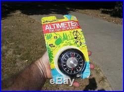 Vintage 1970's nos Airguide auto altimeter barometer service gm street rat rod