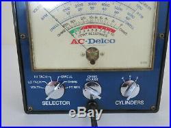 Vintage 1970s AC DELCO GM auto engine Tester meter gauge gm street rat hot rod