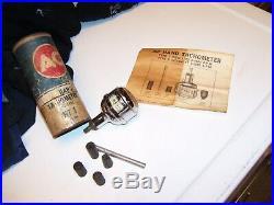 Vintage AC DELCO tachometer chrome service gauge auto gm street rat hot rod oem