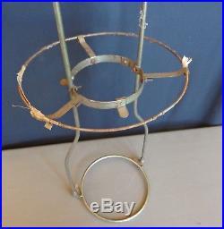 Vintage Aladdin Oil Lamp Hanging Metal Lamp Shade Holder Frame 22 Tall