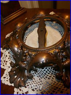 Vintage Antique 10.5 Ornate Cast Iron Copper Victorian Lamp Base LG