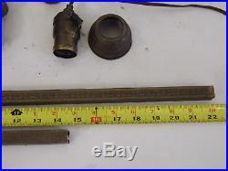 Vintage Art Deco Bridge Floor Lamp Cast Iron & Brass For Parts