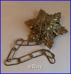 Vintage Brass Bronze French Ceiling Cap canopy lamp chandelier part Acanthus lea