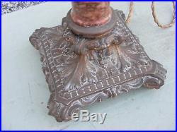 Vintage Column Lamp Base Part Marble