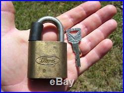 Vintage Ford original Padlock Brass lock kit key auto tool promo parts Bronco