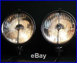 Vintage LUCAS FT58/2 FT58 Fog Lights Spot Lamps Rolls Royce Bentley Jaguar