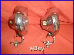 Vintage Lucas 4 FT Fog Lamp FORD MG BRITISH CLASSIC Lambretta Vespa x 2