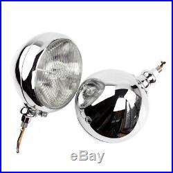 Vintage Lucas King of the road FT58 fog lamps spot lamps lights Jaguar Bentley