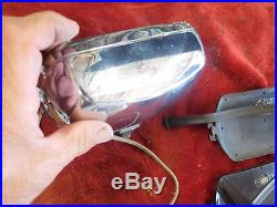 Vintage Lucas Rectangle FT/LR8 FOG Light Lamps Pair With Covers VERY BRIGHT BEAM