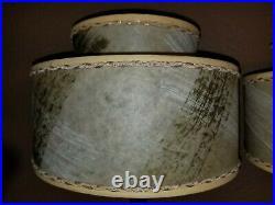 Vintage Mid Century Fiberglass 2 Tier Clip On Boudoir Table Lamp Shades Parts