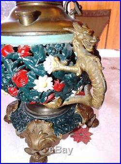 Vintage Miller Juno oil lamp PARTS or Restore Dragons Estate Lot