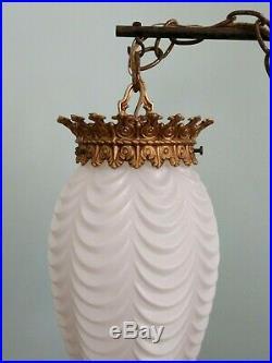 Vintage Moe Vanity Hanging Swag Lamp Hollywood Regency Light Parts or Repair