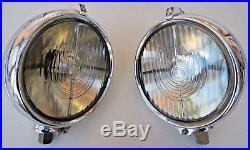 Vintage NOS pair Lucas FT58 spot driving lamps Rolls Bentley Jaguar Alvis