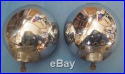Vintage PAIR B-L-C 2002-C 5-3/4 FOG Light LAMP Brass Tag nice chrome