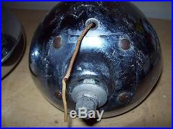 Vintage PAIR Fire Truck Rescue Red Light Lamp-Dodge-Ford-Chevy-Rat Rod