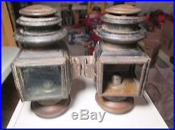 Vintage Pair of Ford Model T Headlights Carriage Lamps Columbus Ohio Model 110