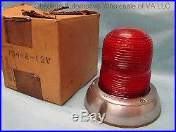 Vintage Peterson Emergency Light Kit Tung Sol 12V Flasher Rotary Switch NOS Lamp