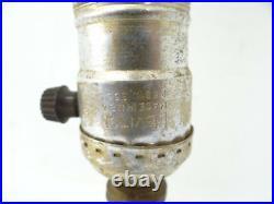 Vintage S Robt Schwartz & Bro Small Cast Iron Single Fixture Bedside Lamp Parts