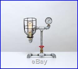 Vintage Steampunk Industrial Machine Age Table Lamp A. K. A. Crinoline