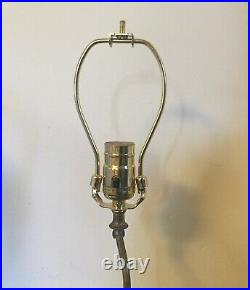 Vintage Table Lamp Parts Wood Base for Chinese Kangix Vase or Porcelain Figure