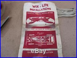Vintage WIX-LITE Under Car / Fog Light Lamp NOS Unique Accessory