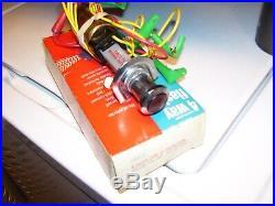Vintage Yankee Hazard flasher auto emergency switch chrome street rat rod gm amc