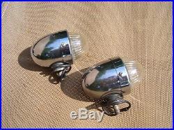Vintage auto Marker back-up lamps lights chrome accessory gm street rat hot rod