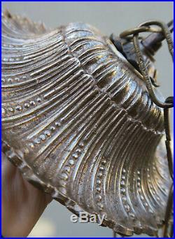 Vintage ceiling cap Rosette Spelter Brass canopy lamp chandelier part Sunburst