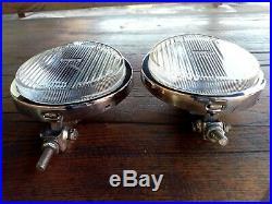 Vintage chrome NOS Bosch fog lamp lights Porsche Mercedes bmw no hella cibie